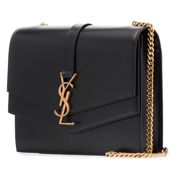 2330597bb2c Saint Laurent Bags | Black Leather Montaigne Shoulder Bag | Poshmark